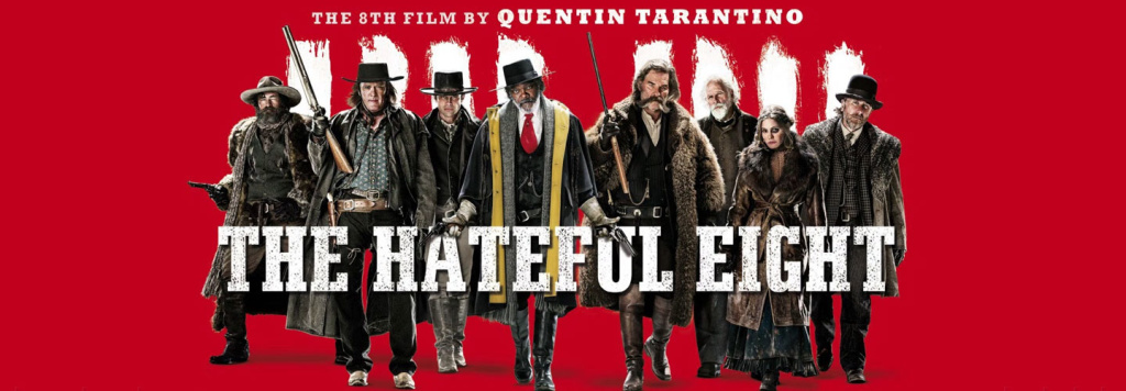 Обзор фильма Омерзительная восьмёрка (The Hateful Eight). Режиссёр: Квентин Тарантино В главных ролях: Курт Рассел, Сэмюэл Л. Джексон, Тим Рот, Майкл Мэдсен, Дженнифер Джейсон Ли, Уолтон Гоггинс, Демиан Бишир, Брюс Дерн, Джеймс Паркс, Дэна Гурье Жанр: Триллер, Драма, Комедия, Криминал, Детектив, Вестерн